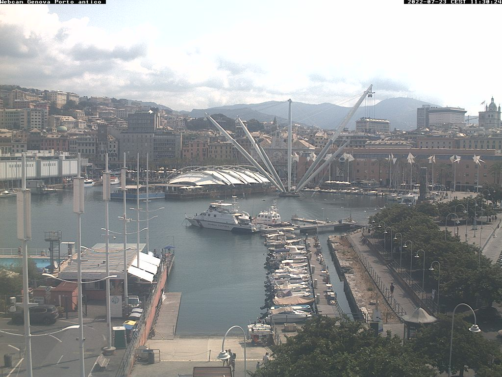 Genoa webcam - Porto Antico e Bigo webcam, Liguria, Genoa